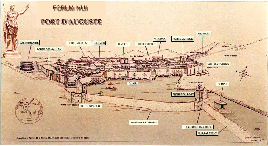 Le port  et la cité romaine de Forum Julii